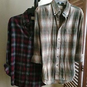 Vintage flannel plaid shirt bundle